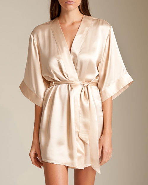 Dolce Short Robe by La Perla in Empire