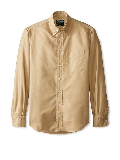 Solid Button Down Sportshirt by Gitman Vintage in Midnight Special