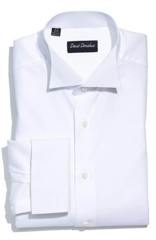 Regular Fit Tuxedo Shirt by David Donahue in Jersey Boys