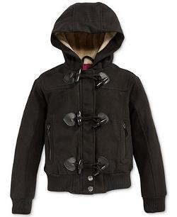 Little Girls' Toggle-Front Bomber Jacket by Dollhouse in Prisoners