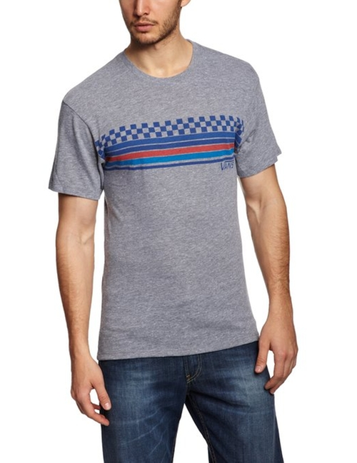 Men's Pista Checker Stripe Graphic T-Shirt by Vans in Neighbors