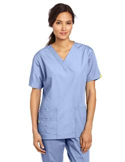 Women's Scrubs Bravo 5 Pocket V-Neck Top by WonderWink in New Year's Eve
