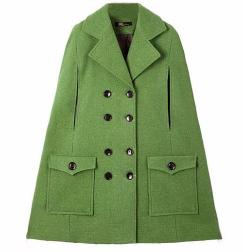 Batwing Style Sleeveless Green Coat by Romwe in Gossip Girl - Series Looks