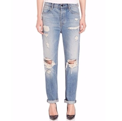 Distressed Boyfriend Jeans by Alexander Wang in Star
