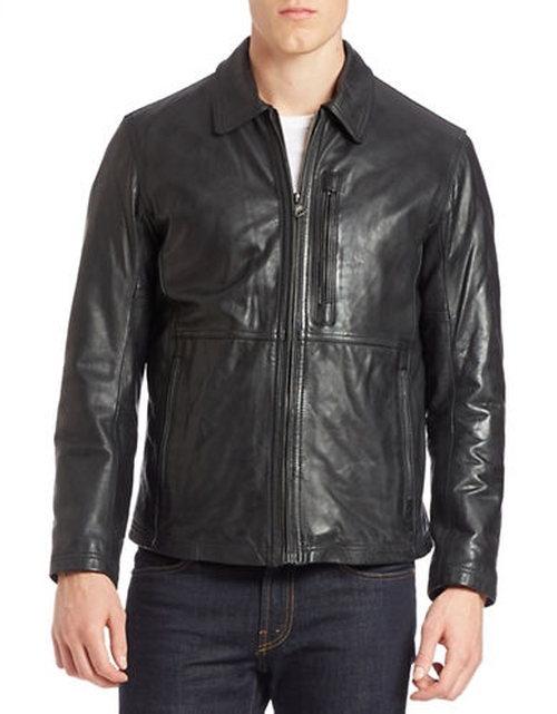 Macdougal Leather Jacket by Andrew Marc in The Vampire Diaries - Season 7 Episode 5