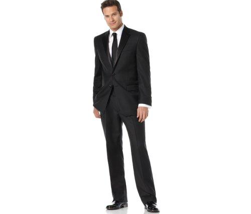 Men's Black Tuxedo Suit by Lauren Ralph Lauren in The Matrix