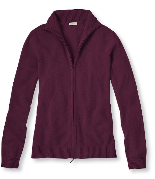 Classic Cashmere Full-Zip Cardigan Sweater by L.L.Bean in The American
