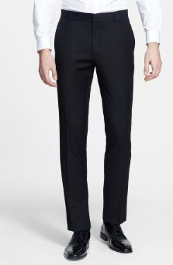 Skinny Fit Jacquard Tuxedo Trousers by Topman in Addicted