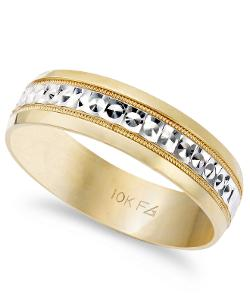 Two-Tone Wedding Band by Macy's in Savages