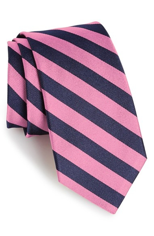 Stripe Silk Tie by Gitman in The Mindy Project - Season 4 Episode 9