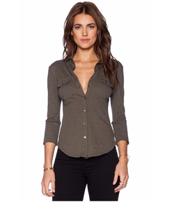 Contrast Panel Shirt by James Perse in Modern Family