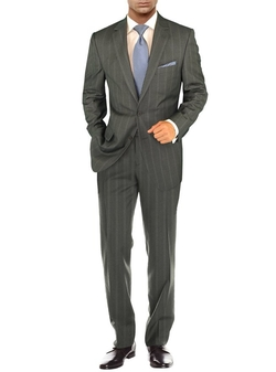 Modern Two Button 2 Piece Striped Suit by Salvatore Exte in The Walk