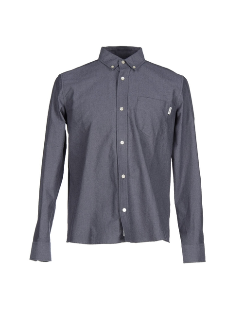 Long Sleeve Button Down Shirts by Carhartt in The Flash - Season 2 Episode 2