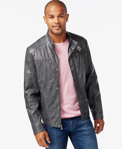Faux-Leather Moto Marble Jacket by Kenneth Cole in Jane the Virgin - Season 2 Looks