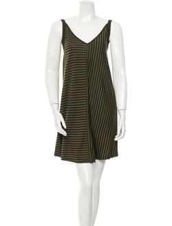 Sleeveless V-Neck Stripe Dress by Sandro in Pretty Little Liars