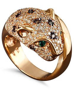 Diamond and Emerald Accent Panther Ring by Effy Signature in Need for Speed