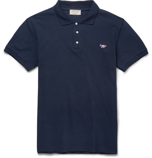 Cotton-Piqué Polo Shirt by Maison Kitsuné in Paper Towns