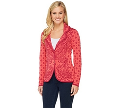 Engineered Paisley Sweater Blazer by Isaac Mizrahi Live in Master of None