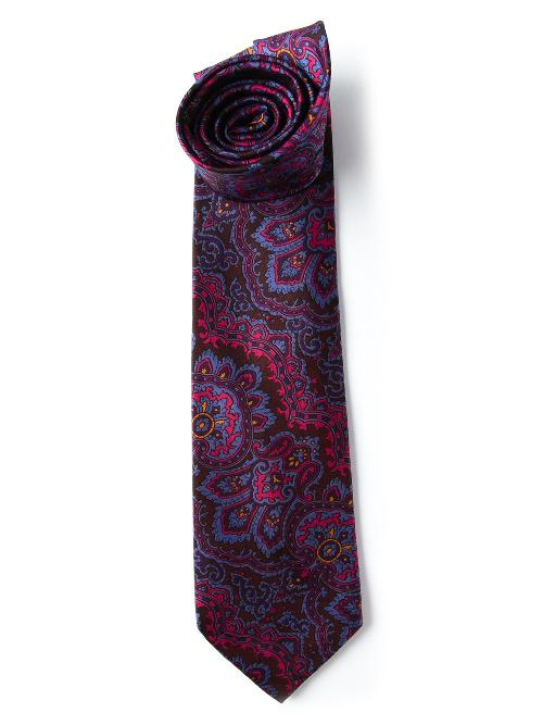 floral print tie by KEN SCOTT VINTAGE in The Wolf of Wall Street