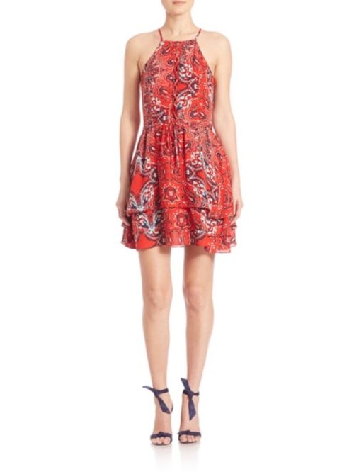 Dax Bandana Printed Dress by Parker  in Popstar: Never Stop Never Stopping