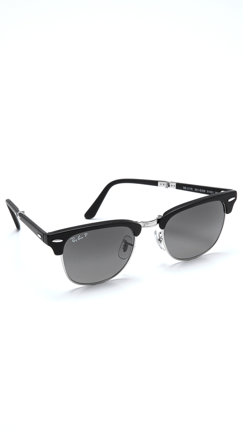Clubmaster Folding Polarized Sunglasses by Ray-Ban in Let's Be Cops