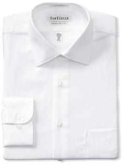 Men's Regular Fit Lux Sateen Dress Shirt by Van Heusen in Wish I Was Here