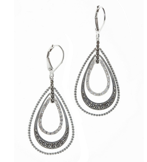 Orbit Teardrop Earrings by Judith Jack in The Good Wife - Season 7 Episode 3