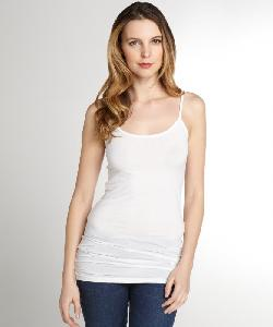 Stretch Supima Cotton Blend Layering Spaghetti Tank by SPLENDID in Blended