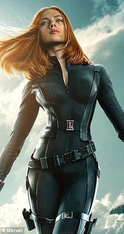 Custom Made Black Widow Costume by Judianna Makovsky (Costume Designer) in Captain America: The Winter Soldier