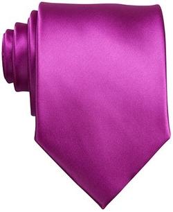 Sateen Solid Tie by Perry Ellis in Suits