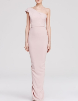 One Shoulder Ruffle Back Gown by Nicole Bakti in Scream Queens