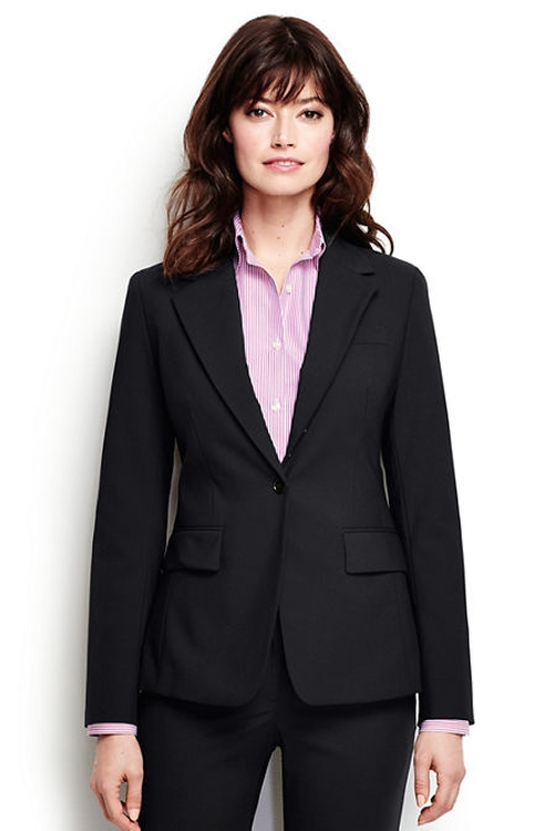 Washable Wool One Button Blazer by Lands' End in Pretty Little Liars - Season 6 Episode 18