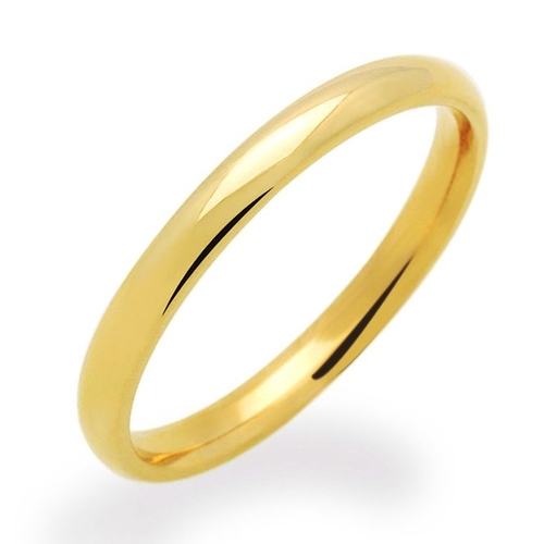 Domed Plain Wedding Band Ring by Double Accent in She's Funny That Way