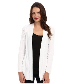 Ribbed Tab Sleeve Cardi Wrap by Splendid in Black or White