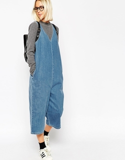 Denim V-Neck Jumpsuit by Asos White in Barbershop: The Next Cut