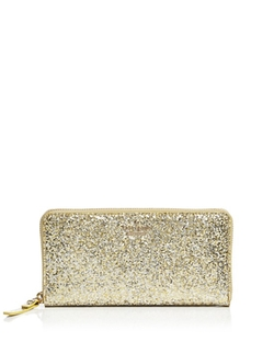 Glitter Bug Lacey Continental Wallet by Kate Spade in Empire