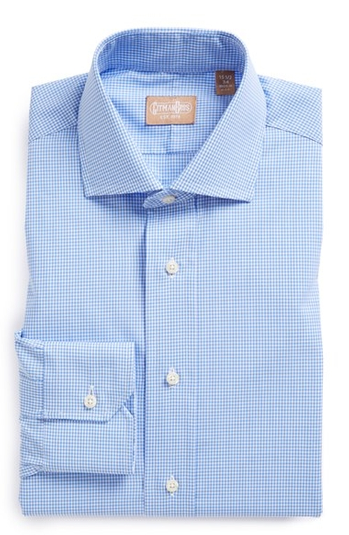 Regular Fit Gingham Dress Shirt by Gitman in Ballers