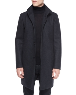 Belvin Wool-Blend Car Coat by Theory in Empire