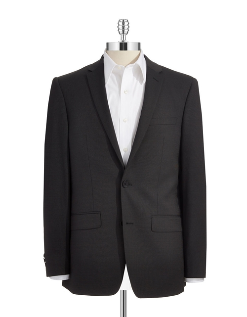 Skinny Two-Button Suit Jacket by DKNY in Inherent Vice