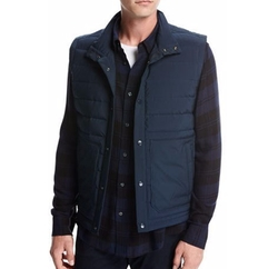 Quilted Tech Utility Vest by Vince in Power