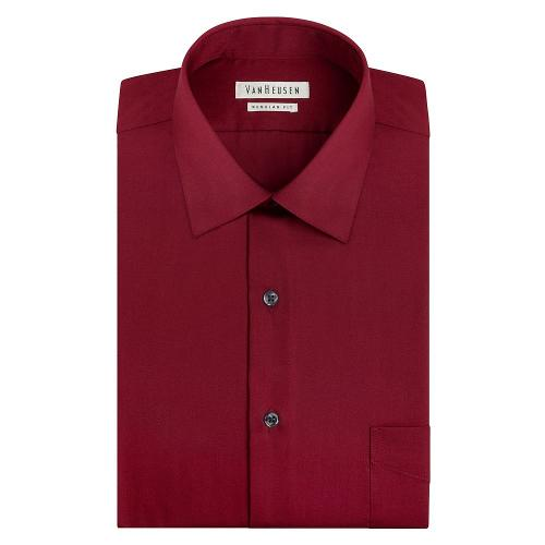 Classic-Fit Solid Easy-Care Spread-Collar Dress Shirt by Van Heusen in Jersey Boys