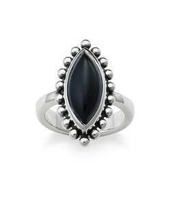Beaded Marquise Onyx Ring by James Avery in Pretty Little Liars