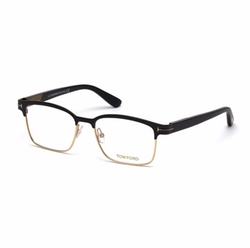 Shiny Metal Square Eyeglasses by Tom Ford in Hell or High Water