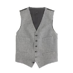 Ludlow Suit Vest In Italian Linen-Cotton by J. Crew in The Great Gatsby