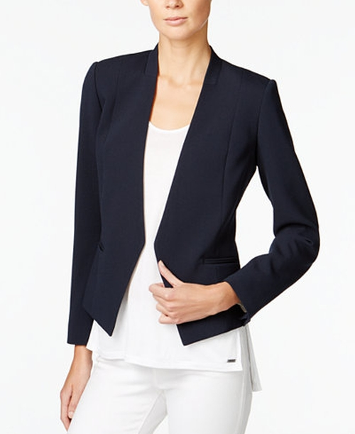 Collarless Open-Front Blazer by Armani Exchange in Suits - Season 6 Episode 9
