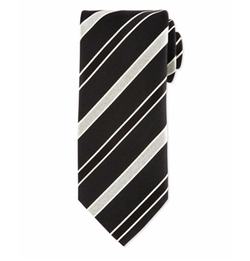 Striped Silk Satin Tie by Eton in Designated Survivor