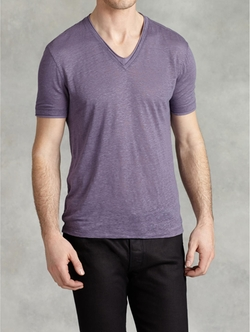 Linen V-Neck Shirt by John Varvatos in X-Men: Apocalypse