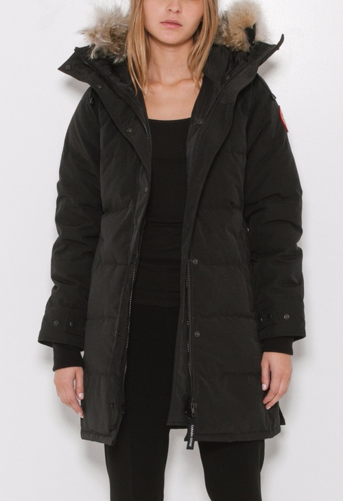 Shelburne Parka Jacket by Canada Goose in Elementary - Season 4 Episode 15