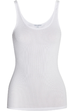 The Daily Ribbed Stretch-Cotton Tank Top by James Perse in Fantastic Four