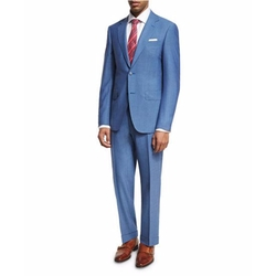 Solid Wool Two-Piece Suit by Canali in Collide